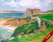 ISLAND OF RAGUENEZ BRITTANY FRANCE LANDSCAPE PAINTING ART REAL CANVAS PRINT
