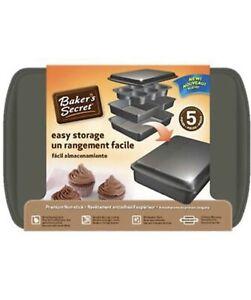 Baker's Secret 5-Piece Easy Store Bakeware Set