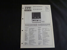 Original Service Manual  ITT Schaub Lorenz SL74a radio recorder
