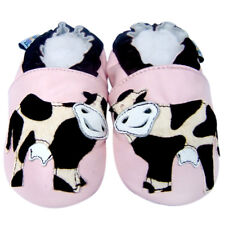 Soft Sole Leather Baby Shoes Infant Kids Toddler Children Girls CowPink 6-12M