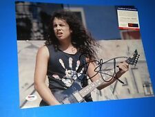 "WOW! KIRK HAMMETT ""METALLICA"" SIGNED 11X14 PHOTO psa/dna 5"
