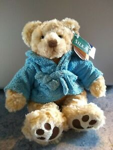"""Silk Air Russ Berrie Exclusive """"Ted"""" Teddy Bear in Dressing Gown item no. 92999"""