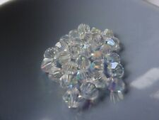 6mm Glass bicones - Crystal AB - Approx. 50 beads per pack