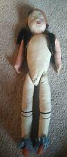 "Early Stuffed Cloth Doll Very Dirty 17"""