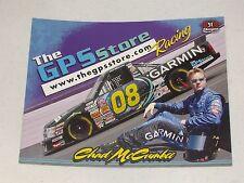 2007 CHAD McCUMBEE #08 CARMIN / GPS STORE NASCAR POSTCARD