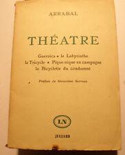 ARRABAL/THEATRE/ED JULLIARD/1961/PORTRAIT EN FRONTISPICE/PANIQUE/TOPOR/JODO