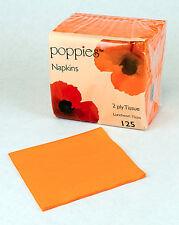 125 x Orange Paper Tea Napkins/Serviettes 33cm - 2ply-Party Supplies
