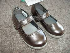 Carter's Toddler Girls Mary Jane Silver Gray Metallic Shoes Size 10 4T NWT NEW