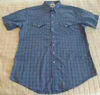 Ely Cattlemen Western Shirt Mens XLT Tall Pearl Snaps Cowboy Rodeo Short Sleeve