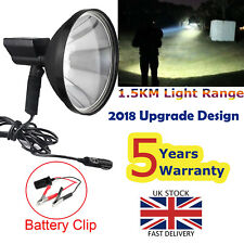 Hand Held Hunting Spot Light Lamp Camping Lamping Foxing Shooting Torch 120W