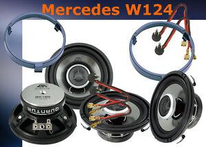 Lautsprecher für Mercedes W124 Limousine vorne + hinten