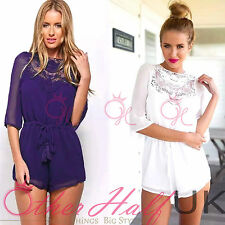 Chiffon Floral Petite Jumpsuits & Playsuits for Women