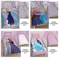 Disney Frozen Crystal Anna Elsa Olaf Single Double Duvet Quilt Bedding Cover Set