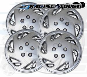 "Wheel Cover Replacement Hubcaps 17"" Inch Metallic Silver Hub Cap 4pcs Set #054"