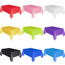 Large Plastic Rectangle Table Cover Cloth Banquet Party Tablecloth Covers Eager