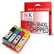364XL SET OF 4 NON-OEM INKS Replace FOR HP C6380 B8550 D5460 C5380 Chipped