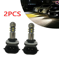 1Pair 1000LM 50W H27W 881 894 889 LED Fog Light Bulb Daytime Running Projector