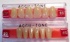 Acrylic False Teeth For Dentures. Accutone,shade65upper & lower Anterior 2D Set