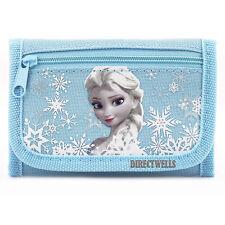 Disney Authentic Licensed Frozen Canvas Trifold Blue Wallet for Children
