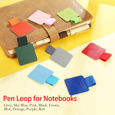Pen Loops Holder Self-adhesive 6 Pack Leather With Elastic Band Clips Notebooks