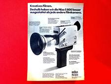 1973 orig. Werbung aus Zeitschrift  Filmkamera  BRAUN NIZO S 800