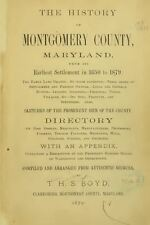 1879 MONTGOMERY County, Maryland MD, History and Genealogy Ancestry DVD CD B05