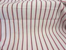 NAUTICAL Red White & Blue Stripe Lt Weight DENIM WAMSUTTA MILLS Fabric 2.75 Yds