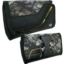 Nite Ize Side XXL Camo Wallet Case Fits phones from 6.5 inches to 7 inches tall.