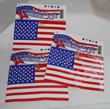 """American  Flag 's 6"""" x 4"""" with Suction Cup  Buying 3 Flags"""