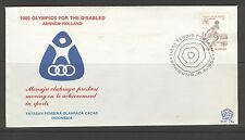 INDONESIA 1980 FDC SHP 75A PARALYMPICS + BLANK