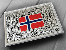 "Personalised photo album, memory book, 6x4"" photos, Norway holiday gift"