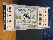 2015 MICHIGAN WOLVERINES VS BYU COUGARS COLLEGE FOOTBALL TICKET STUB 9/26