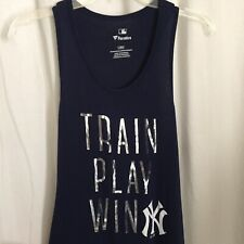 1020016 New York Yankees Women's Tank Top Large Train Play Win Blue Fanatics L