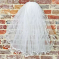 VINTAGE Bridal Veil Wedding Tulle Headpiece Tiered Comb