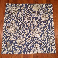 "❤️ 1 POTTERY BARN Linen Blue Damask Pineapple Floral 26"" EURO Pillow Sham"