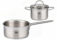 ELO Top Collection 18/10 Stainless Steel Kitchen Induction Saucier Casserole set
