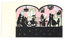 Deluxe Mini Advent Calendar Christmas Card Tealight Lantern - Victorian House