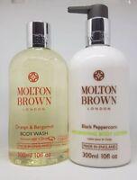 Molton Brown Orange & Bergamot Body Wash & Black Peppercorn Body Lotion 300ml