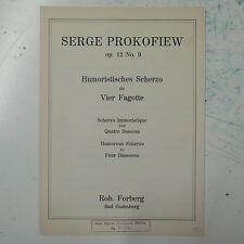 PROKOFIEV op.12 / 9 , humoristisches scherzo  , for 4 bassoons  , forberg
