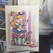 Disney Parks WonderGround Miss Mindy A Spot Of Tea Alice In Wonderland Giclee
