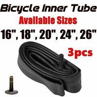 "3x 16"" 18"" 20"" 24"" 26""  Inner Bike Tube Bicycle Rubber Tire Interior BMX Cruiser"