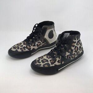 New Converse All Star Pro bb Sz 9 Rare Animal Print Cheetah Leopard Basketball