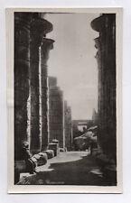 CARTE PHOTO ANCIENNE EGYPTE EGYPT THEBES THE RAMESEUM Ruines Temple Colonne