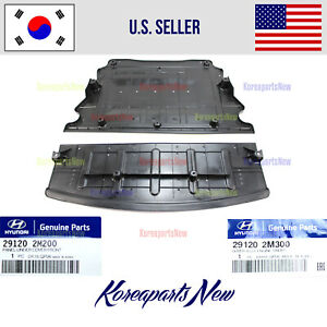 3.8L Engine Shield Radiator Support Under Cover 2pcs ⭐OEM⭐ Genesis Coupe 10-16