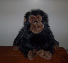 "Rare Ganz 1996 Black Brown Monkey Fuzzy Furry Stuffed Animal Plush Primate 10"""