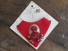 Vintage 1989 Women's Western Under Collar Accessory El & Co. Usa Red