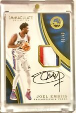 2016-17 Immaculate Collection JOEL EMBIID /40 Game Worn 3 Color Patch Auto! 🔥