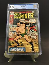 Sub-Mariner #30 CGC 8.5 WP Captain Marvel App Sal Buscema New Case Beauty!