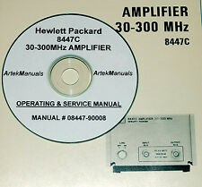 HP 8447C 30-300MHz Amplifier Operating  & Service Manual