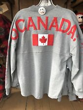 Disney Epcot O Canada Provinces Mickey Mouse Spirit Jersey Pullover Top Shirt S